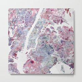 New York map Metal Print