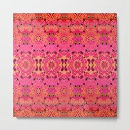 Pink Haze Bandana Ombre' Stripe Metal Print