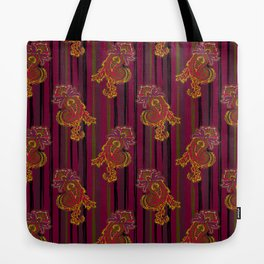 burgundy in paisley Tote Bag
