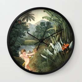 Cupid : New Illustration Of The Sexual System Wall Clock