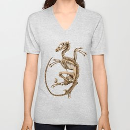 Raptor Skeleton Unisex V-Neck