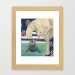 Polar Plunge Framed Art Print