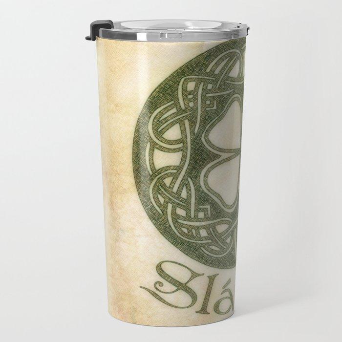 Slainte or To Your Health Travel Mug