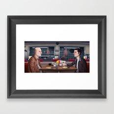 Looper Diner Scene Framed Art Print