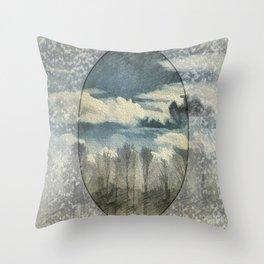 Circle Of Life Mirror Landscape Throw Pillow