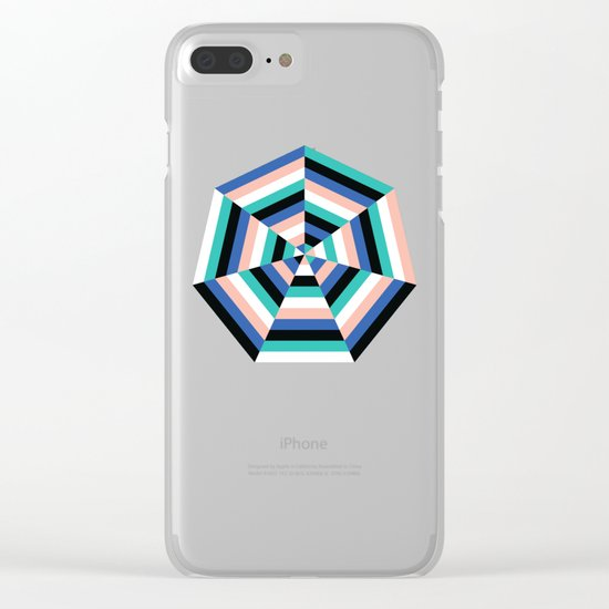 Heptagon Quilt 3 Clear iPhone Case