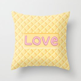 Wafer Cookie Love Throw Pillow