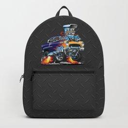 Classic Fifties Hot Rod Muscle Car Cartoon Backpack