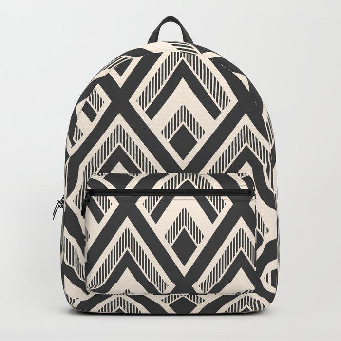 Diamond Pattern Light & Dark Backpack