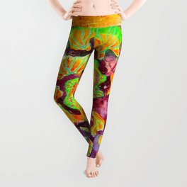 Cabbage Rose Leggings