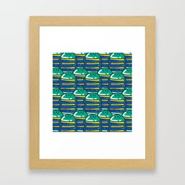 Burger Pattern Framed Art Print