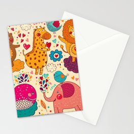 Animals in love Stationery Cards