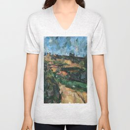 1904 - Paul Cezanne - Bend Of The Road At The Top Of The Chemin Des Lauves Unisex V-Neck