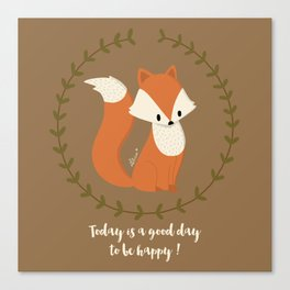 Renard roux // Red fox Canvas Print