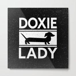 Doxie Lady Dachshund Metal Print