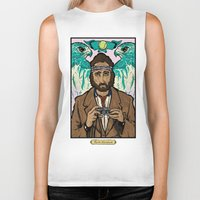 the royal tenenbaums Biker Tanks featuring Richie Tenenbaum (Royal Tenenbaums) Movie Poster Print  by Nick Howland