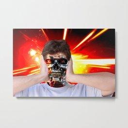 Angry man Metal Print