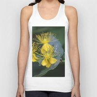 copenhagen Tank Tops featuring Copenhagen Yellow by Abby Hoffman
