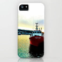 Fishermans Boat - Howth Harbour iPhone Case