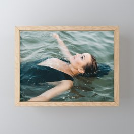In the water | Ocean inspired portrait of a young woman Framed Mini Art Print
