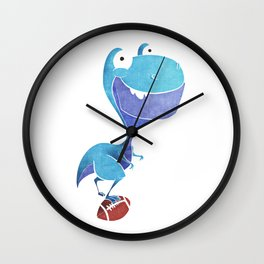 Footballer dino Wall Clock