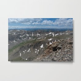 Fourteener Top Metal Print