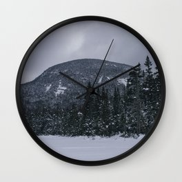 Winter at Lonesome Lake in the White Mountains Wall Clock