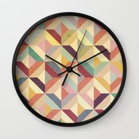 geo Wall Clocks featuring Geo by Hooray Creative