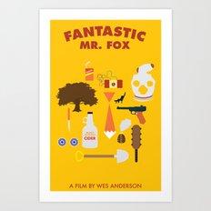 Fantasitc Mr. Fox Art Print