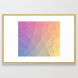 Abstract Polygons Framed Art Print