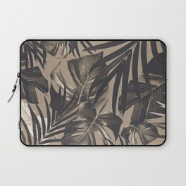 Tropical Jungle Leaves Pattern #2 #tropical #decor #art #society6 Laptop Sleeve