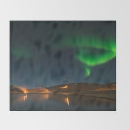 Northern Lights in Iceland Throw Blanket