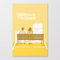 500 days of summer Canvas Prints featuring (500) Days of Summer by ambivalentpress