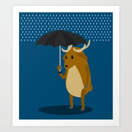 Rain-Deer Art Print