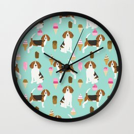 beagle ice creams dog lover pet gifts cute beagles pure breeds Wall Clock