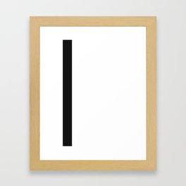 black line Framed Art Print