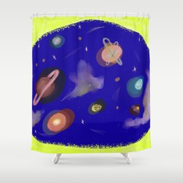Space Story Shower Curtain