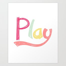 Play Nursery Art Art Print