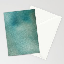 Hand painted blue teal abstract watercolor paint Stationery Cards