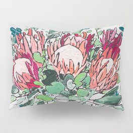 Bouquet of Proteas with Matisse Cutout Wallpaper Pillow Sham