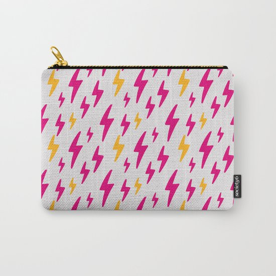 Retro Hand Drawn Lightning Pattern Carry-All Pouch
