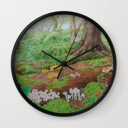 A Day of Forest (5). (dead wood ecosystem) Wall Clock