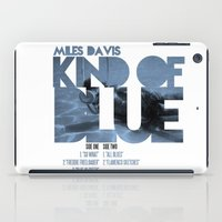 miles davis iPad Cases featuring Kind Of Blue - Miles Davis / Album Cover Art LP Poster  by FunnyFaceArt