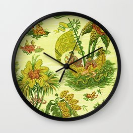Chartreuse Chinoiserie Wall Clock