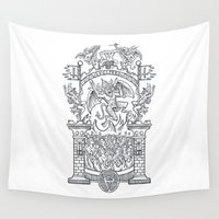 satan Wall Tapestries featuring Satanic Rock by Peter Kramar