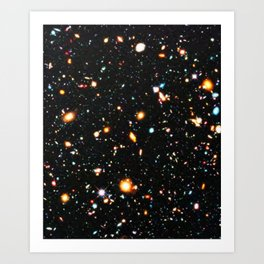 Hubble Extreme Deep Field High Resolution Art Print