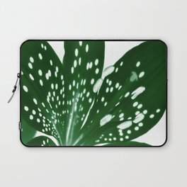 Lily Infrared In Green Laptop Sleeve