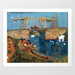 Vincent and Monsters Art Print