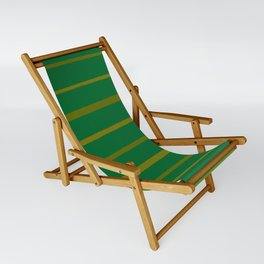 Emerald Green and Honey Gold Thin Stripes Sling Chair