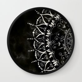 'If You Can't Control it Let it Go' Quote Mandala Wall Clock